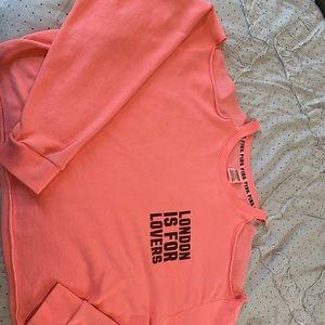 Victoria's Secret pink open shoulder sweat shirt